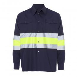 Camisa Bicolor 65% Pol - 35% Alg.