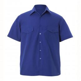 Camisa m/corta 2 Bolsillos 65% Pol - 35% Alg