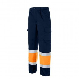 Pantalón multibolsillos bicolor reforzado